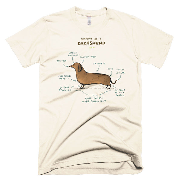 Anatomy of a Dachshund Men's T-Shirt