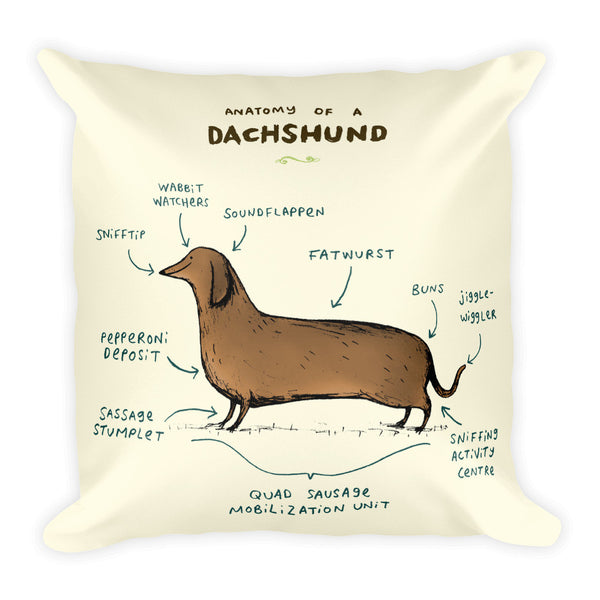 Anatomy of a Dachshund Pillow