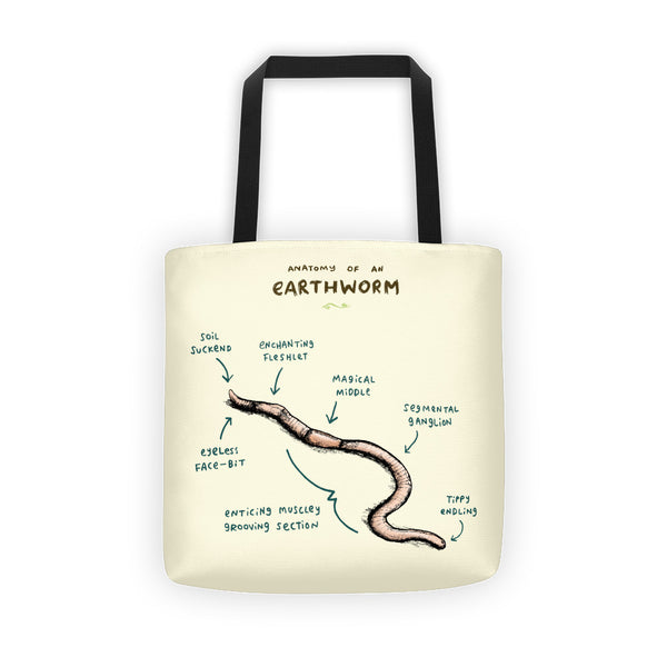 Anatomy of an Earthworm Tote Bag