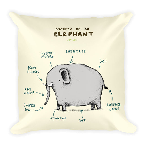 Anatomy of an Elephant Pillow