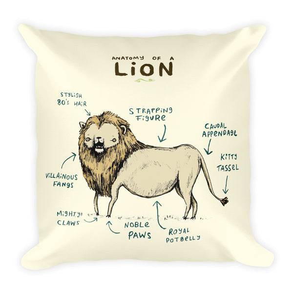 Anatomy of a Lion Pillow