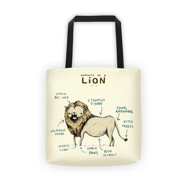 Anatomy of a Lion Tote Bag