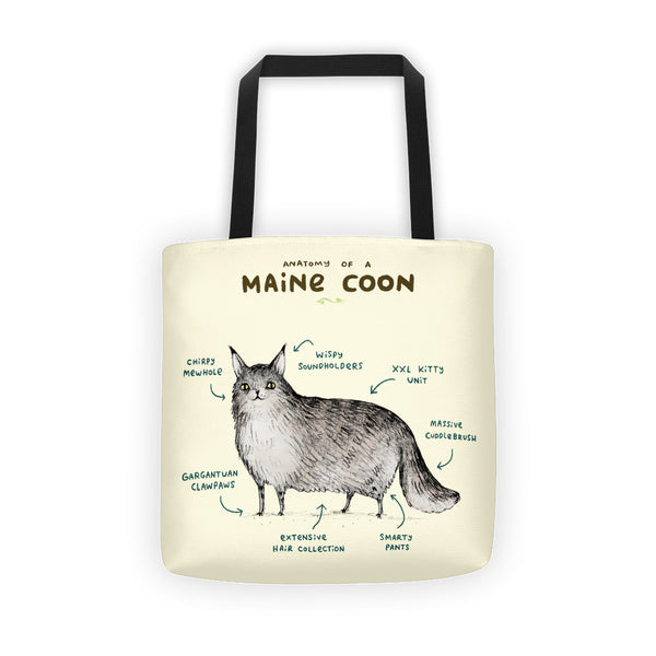 Anatomy of a Maine Coon Tote Bag