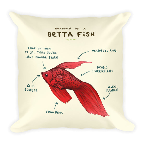 Anatomy of a Betta Fish Pillow
