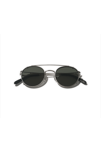 Clip-on Sunglasses - Brushed Chrome