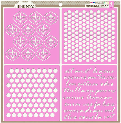 BoBunny Stickable Stencil Brocade