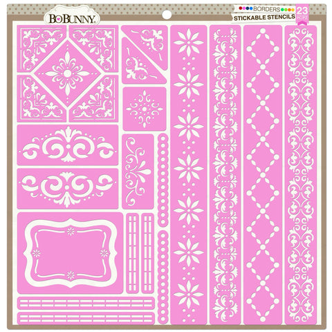BoBunny Stickable Stencil Borders