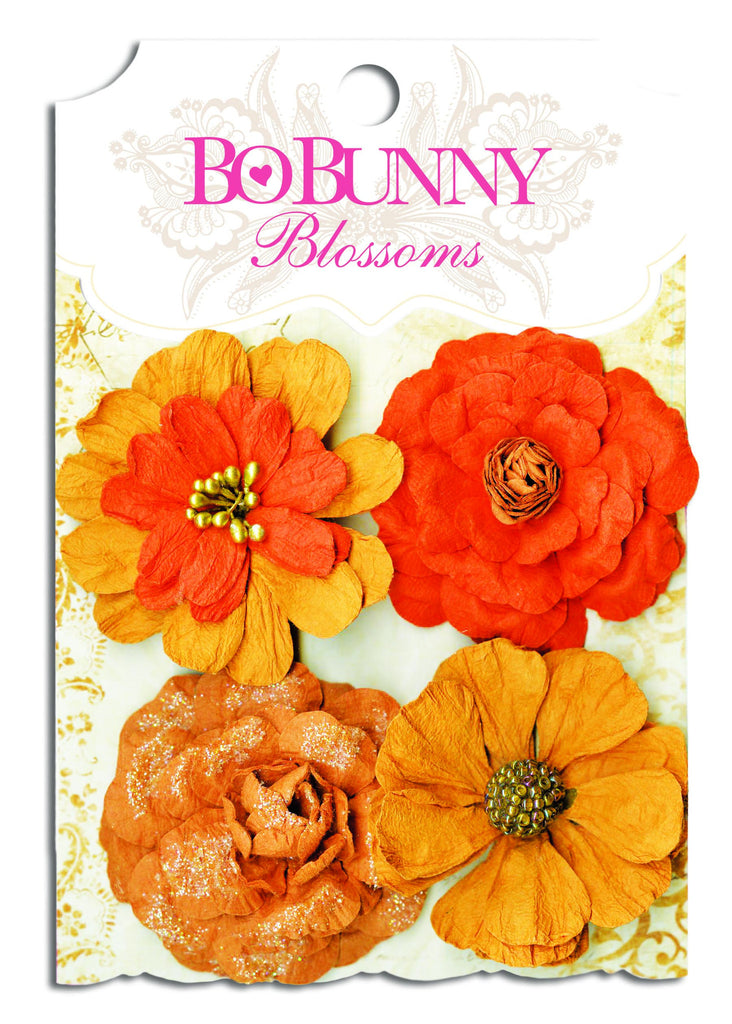BoBunny Bouquet Flowers Harvest Orange Zinnia