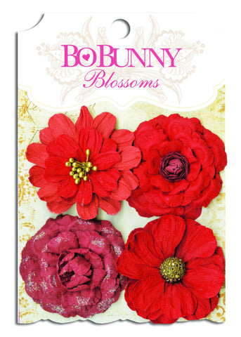 BoBunny Bouquet Flowers Wildberry Zinnia