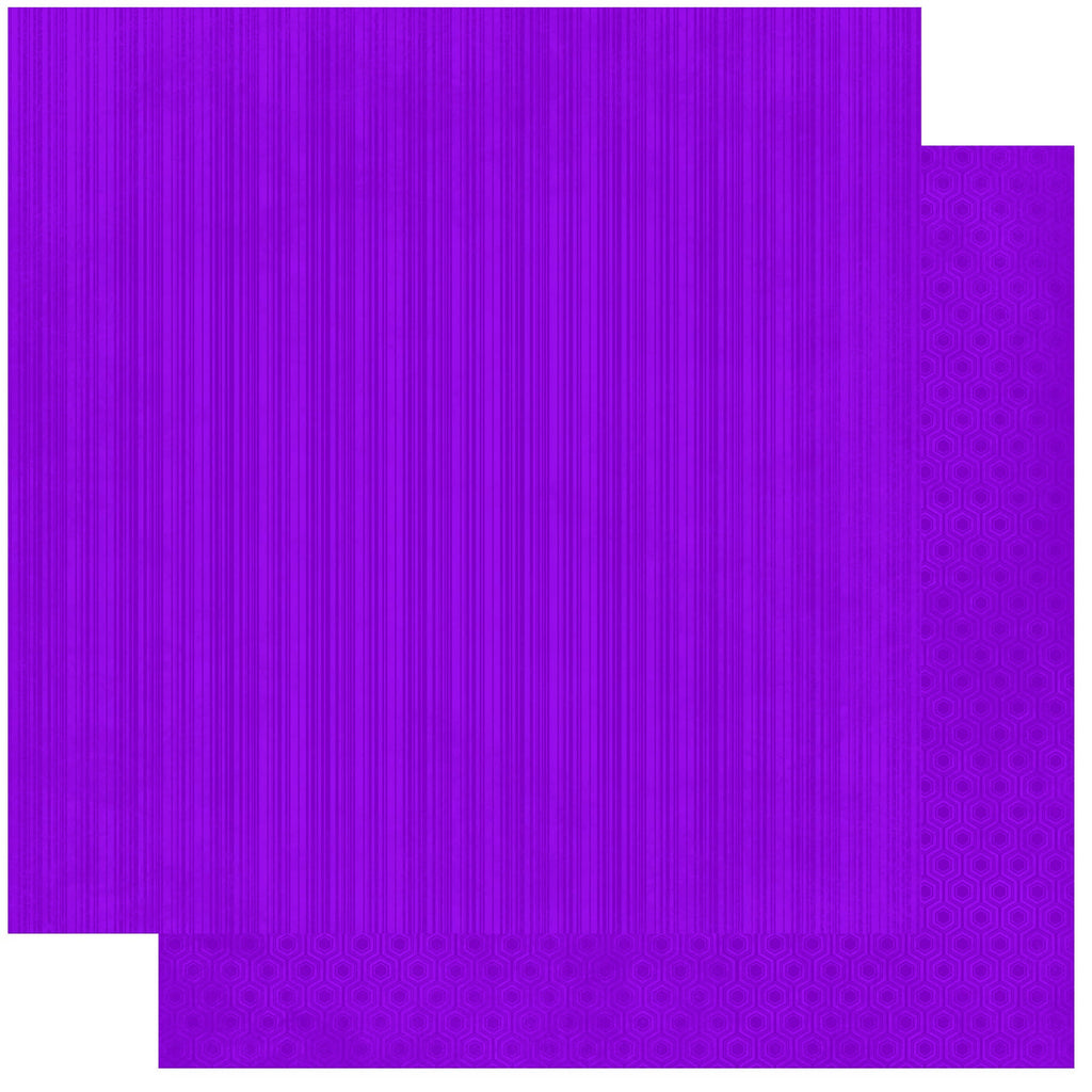 BoBunny Double Dot 12 x 12 Double Sided Paper Grape Stripe