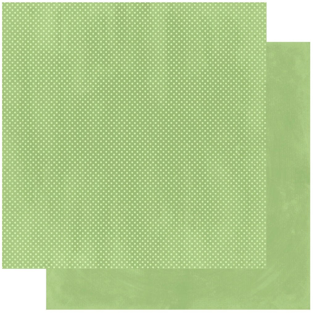 BoBunny Double Dot 12 x 12 Double Sided Paper Sweet Pear