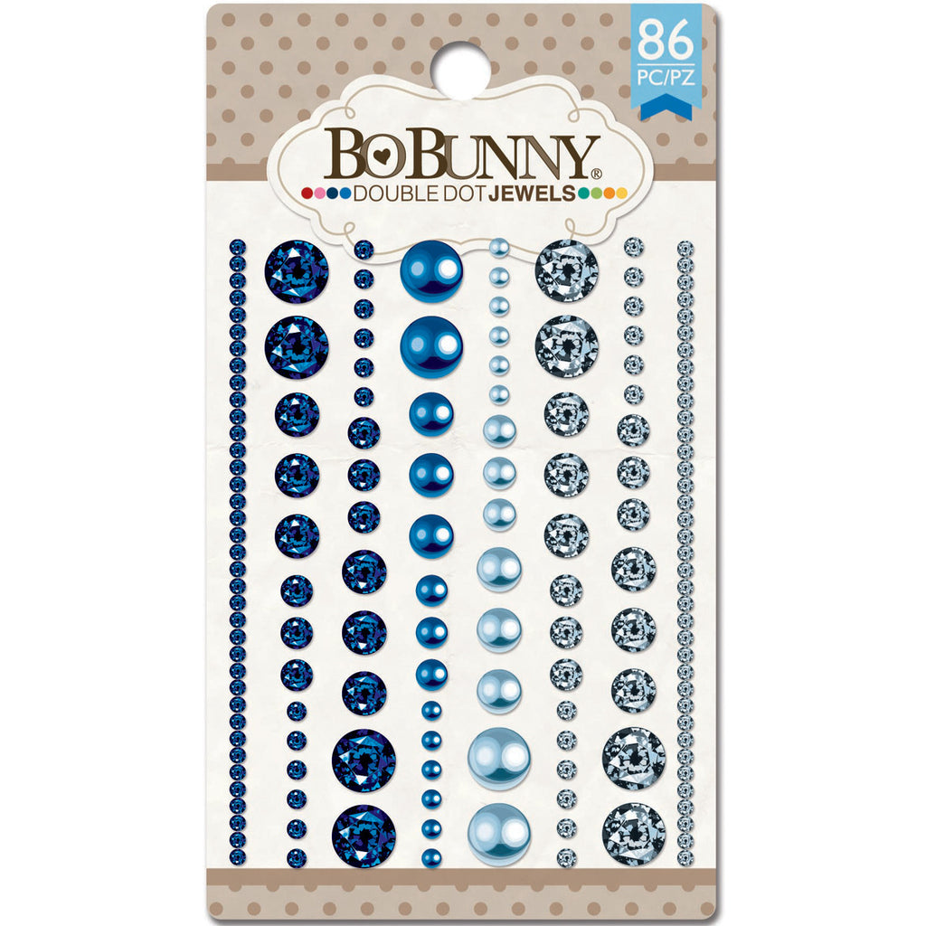 BoBunny Double Dot Jewels Blue Hues