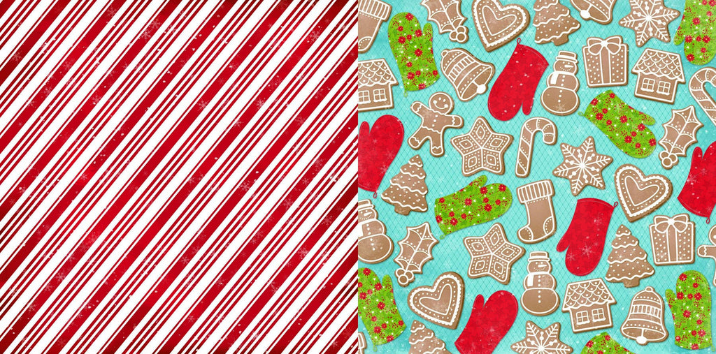 BoBunny Dear Santa 12 x 12 Double Sided Paper Candy Cane