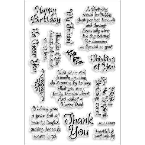 Stampendous Clear Stamps Friendly Phrases