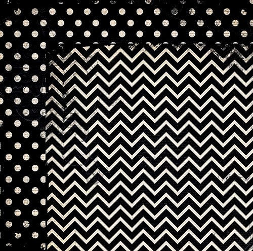 BoBunny Double Dot 12 x 12 Double Sided Paper Licorice Chevron