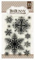 BoBunny Cling Stamps 4 x 6 Snowflakes