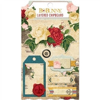 BoBunny Juliet Layered Chipboard Stickers