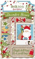 BoBunny Dear Santa Self Adhesive Layered Chipboard