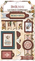 BoBunny Provence Layered Chipboard Stickers