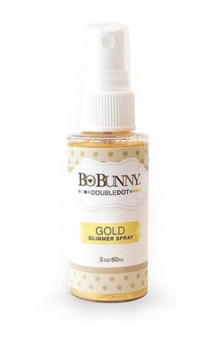 BoBunny Double Dot Glimmer Spray Gold