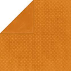 BoBunny Double Dot 12 x 12 Double Sided Paper Burnt Orange Dot
