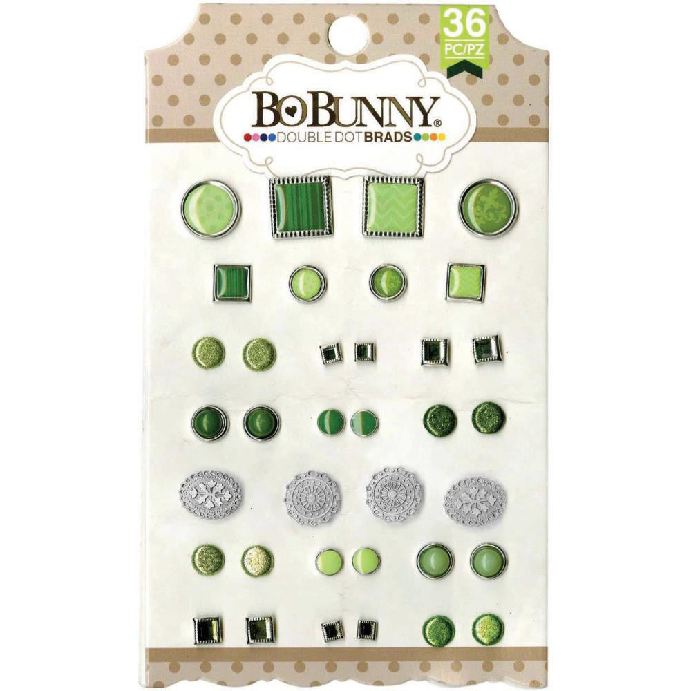 BoBunny Double Dot Brads Emerald