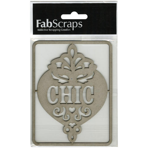 FabScraps Die Cut Chipboard Word Chic