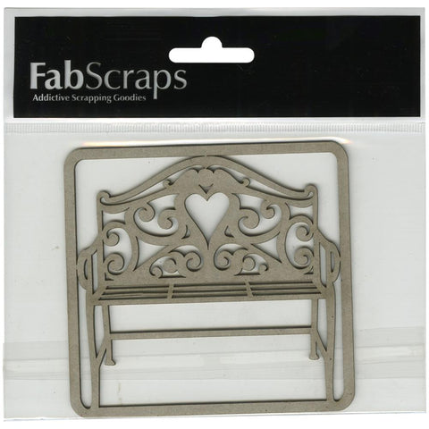 FabScraps Die Cut Chipboard Filigree Bench