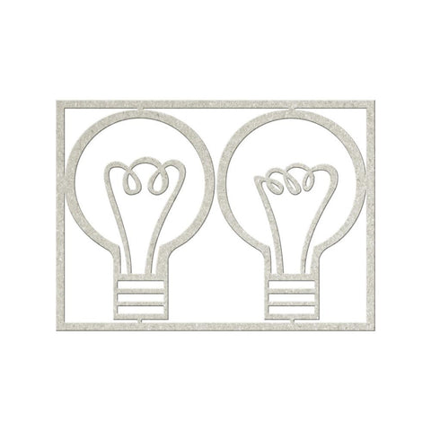 FabScraps Die Cut Chipboard Light Bulb