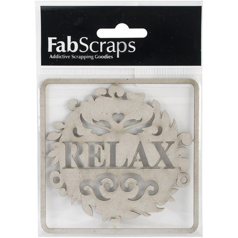 FabScraps Die Cut Chipboard Relax