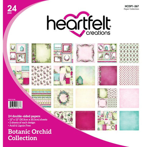 Heartfelt Creations Botanic Orchid 12x12 Paper Collection