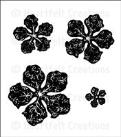 Heartfelt Creations Bold Vintage Floret Cling Stamp Set