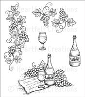 Heartfelt Creations Italiana Grape Clusters Cling Stamp Set