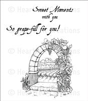 Heartfelt Creations Riviera Gateway Cling Stamp Set