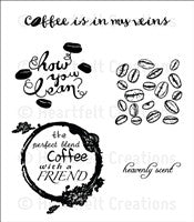 Heartfelt Creations Coffee Talk, The Perfect Blend Cling Stamp Set