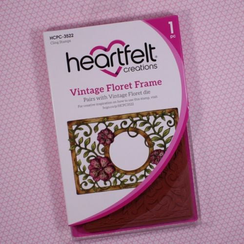 Heartfelt Creations Vintage Floret Frame Cling Stamp Set
