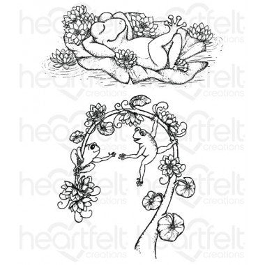 Heartfelt Creations Winking Frog Cling Stamp Set