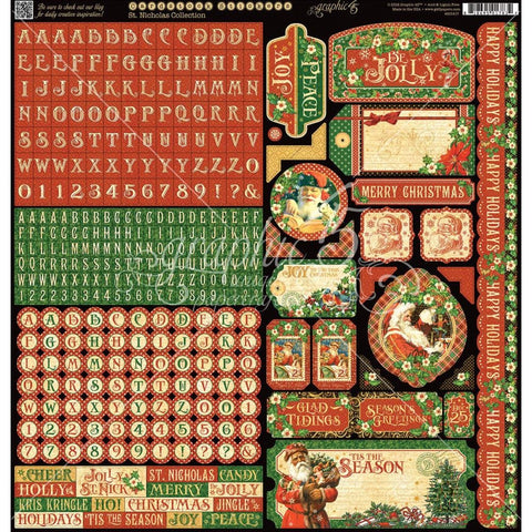 Graphic 45 St. Nicholas Cardstock Stickers