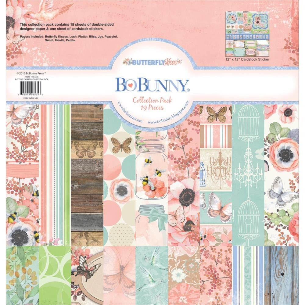 BoBunny Butterfly Kisses 12 x 12 Collection Pack
