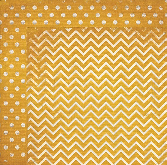 BoBunny Double Dot 12 x 12 Double Sided Paper Maize Chevron