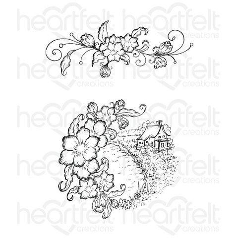 Heartfelt Creations Arianna Vines Cling Stamp Set
