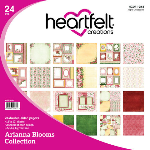 Heartfelt Creations Arianna Blooms 12 x 12 Paper Collection
