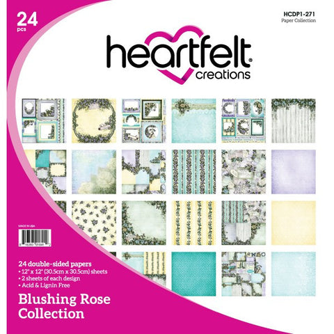 Heartfelt Creations Blushing Rose 12x12 Paper Collection