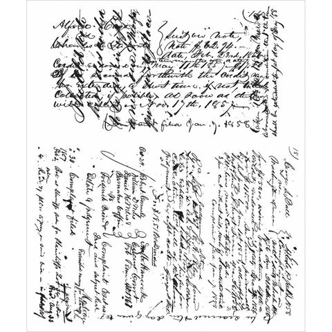 Tim Holtz Cling Rubber Stamp Ledger Script