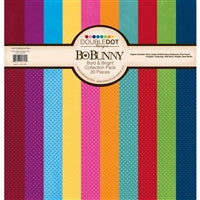 BoBunny Double Dot Paper Pack 12 x 12 Bold and Bright