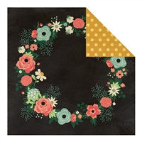 "Fancy Pants Burlap & Bouquets Double-Sided Cardstock 12""X12"" Flora Wreath"