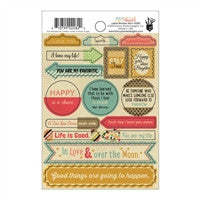 "Fancy Pants Burlap & Bouquets Label Stickers 4""X6"""