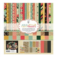 "Fancy Pants Designs Collection Kit 12""X12"" Burlap & Bouquets"