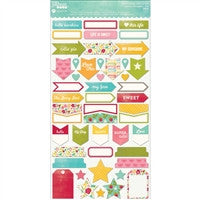 "Jillibean Soup Collection 6"" Stickers Summer Red Raspberry Soup"