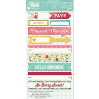 "Jillibean Soup Collection 3"" Stickers Summer Red Raspberry Soup"